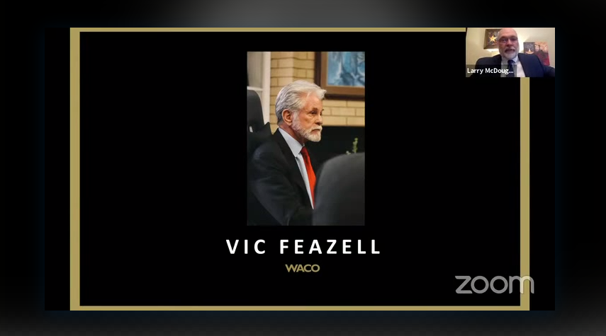 Attorney Vic Feazell being recognized by Texas State Bar